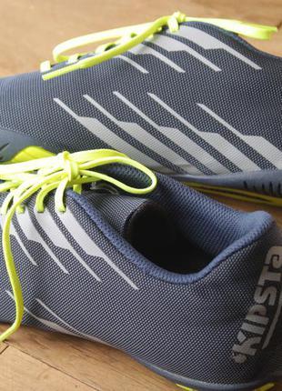 Дышащие, текстильные кроссовки для зала kipsta, 27 см