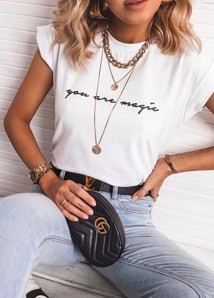 Женская хлопковая футболка