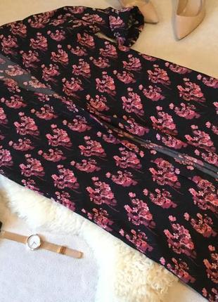 Крутой летний кардиган жакет накидка в цветочек модного трендового фасона на р. xs ...🎀🌸💝