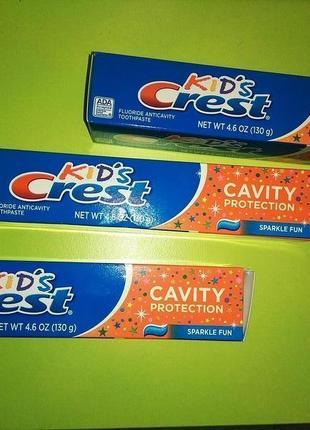 Детская зубная паста crest