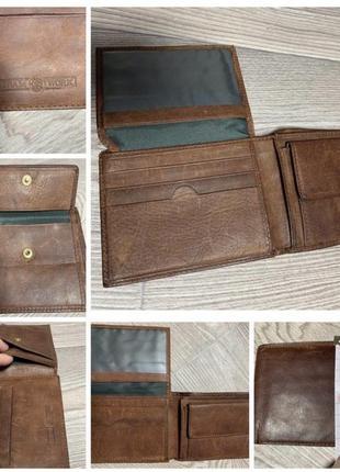 Компактный кошелёк team work,100% кожа leather