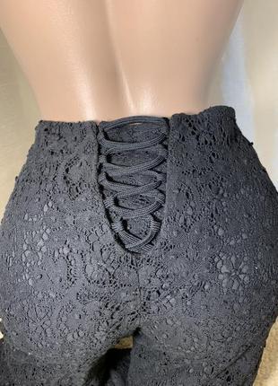 Кружевные брюки кружево на подкладе karen millen  плетенное кружево оригинал