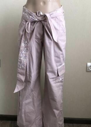 Брюки штаны с вышивками