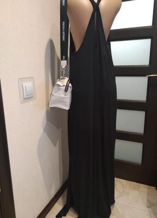 Отличный черный базовый сарафан платье макси оверсайз