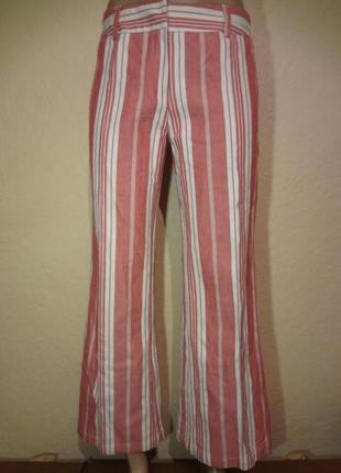 Классные модные расклешенные плотные штаны/брюки в ретро стиле mango размер m