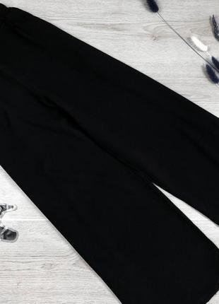 Базовые фактурные кюлоты/колоти/широкие укорочены брюки с высокой посадкой