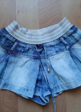 Юбка-шорты джинсовая