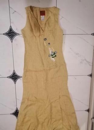 Kenzo лен платье