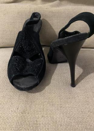 Женские босоножки на высоком каблуке 37 размер