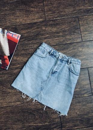 Очень стильная джинсовая мини юбка