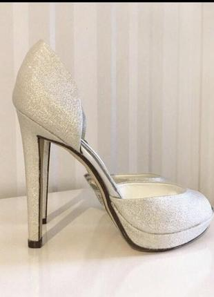 Туфли английского бренда dorothy perkins. свадебные вечерние босоножки