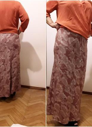 Летняя юбка в пол с крапивы
