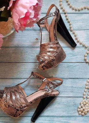 🔥питоновые босоножки, высокий каблук, стильные,яркие, экстравагантные 🔥