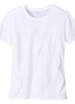 Белая хлопковая футболка livergy