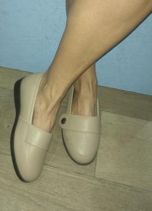 🔶кожаные туфли cosyfeet р 39 на очень широк ногу англия