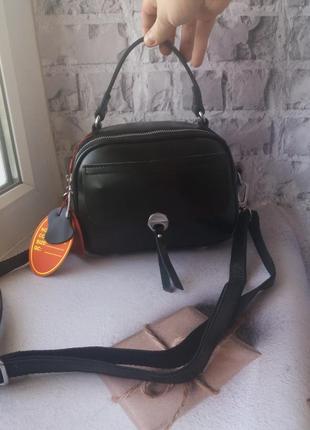 Кожаная женская сумочка чемоданчик шкіряна жіноча коатч кожаный шкіряний