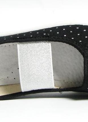 Черные мокасины, текстильные туфли, тапочки для девочки валди. размеры 27-344 фото