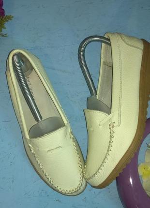 💠кожаные туфли мокасины clifford james р 38-38,5 англия