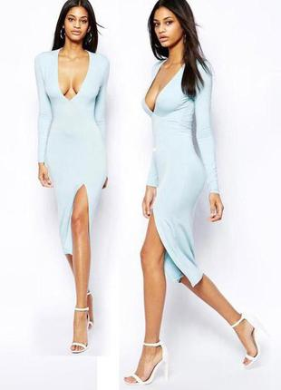 Распродажа! платье-футляр asos с разрезом до бедра в стиле ким кардашьян