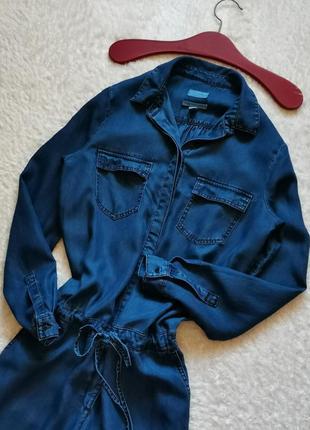 Комбинезон ромпер оверсайз джинсовый размер 38 esprit