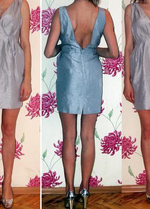 Платье с легким металлическим эфектом