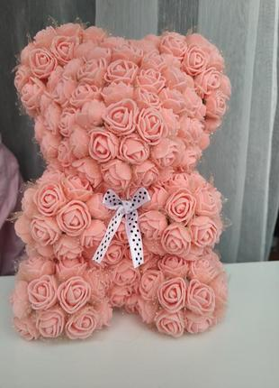 Мишка из роз подарок декор для дома