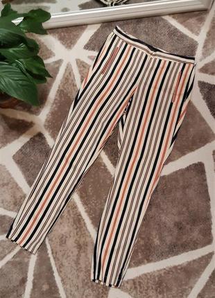 Стильные полосатые брюки zara