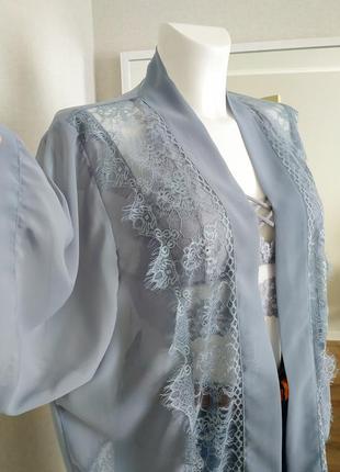 Шифоновая блуза кружевная накидка