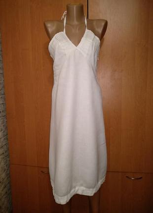 Классное льняное платье сарафан лён, из льна