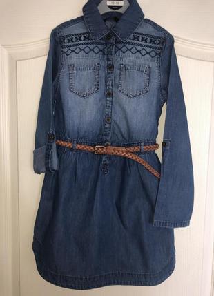 Платье джинсовое george 6-7 лет