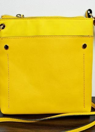 Повседневная сумка желтая с длинным ремешком