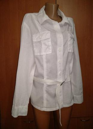 Летний льняной пиджак лен и хлопок пог-53 см