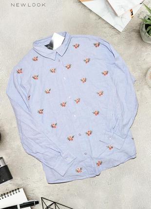 Нежная новая рубашка с вышивкой цветов new look