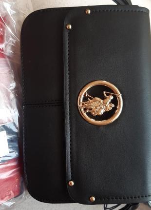 Небольшая сумочка-кроссбоди us polo assn сумка черная