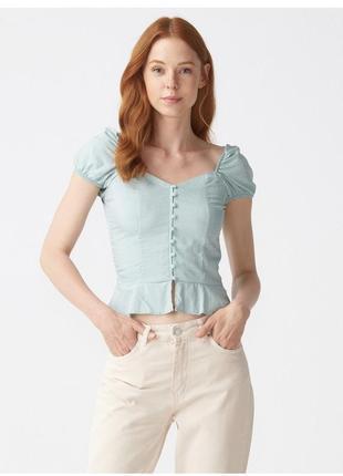 Мятная блузка dilvin