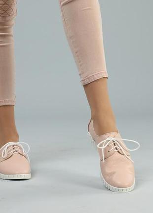 Летние кожаные кеды розовые, кеды кожа натуральная