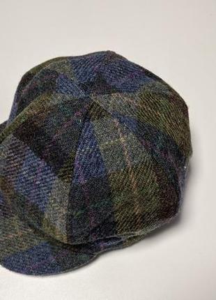 Теплая шапка твидовая failsworth x harris tweed bakerboy сap