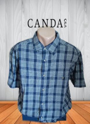 🌴🌴c&a canda хлопковая мужская рубашка короткий рукав l🌴🌴🌴