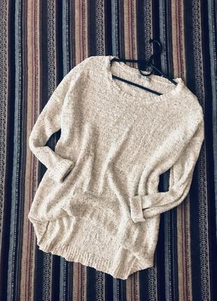 Легкий весенний свитерок свитшот с пайетками оверсайз большого размера батал