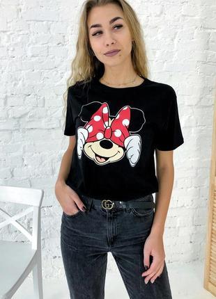 Черная футболка с микки
