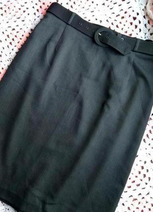 Классическая юбка миди карандаш m&s