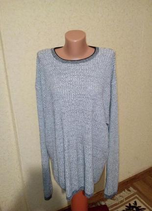 Трикотажный котоновый свитер свитшот