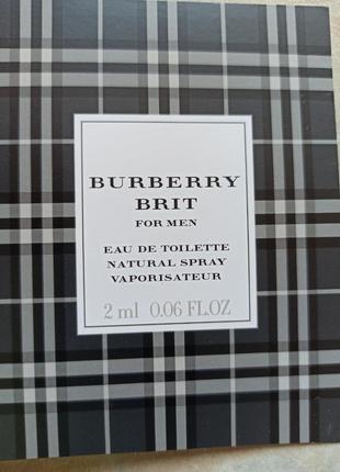 Пробник burberry brit for men