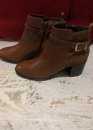 Фирменные ботинки ботильоны деми 38 размер стелька 25 см натуральная кожа замша san marina