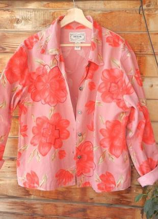 Красивенный коттоновый пиджак жакет куртка рубашка