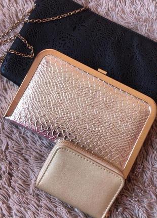 Набор:2 клатча и кошелёк-визитница