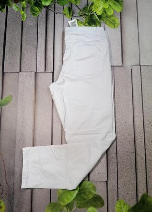 Белые хлопковые брюки форменные унисекс