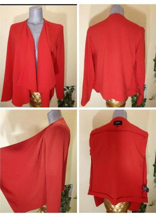 Женский жакет красного цвета, пиджак кардиган
