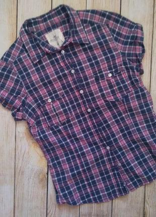 Рубашка h&m logg hm сорочка хлопок короткий рукав