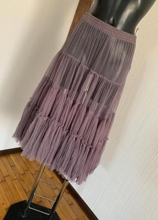 Фатиновая юбка под худи